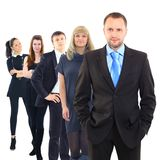 Team. Business men and his team isolated over a white background Stock Photo