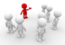 Team. 3d people - men, person in group. Leadership and team Royalty Free Stock Photos