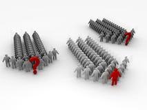 Team 3D mit Führer und Teams ohne Führer Lizenzfreies Stockfoto