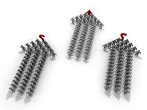 Team 3D mit Führer und Teams ohne Führer Lizenzfreie Stockfotos