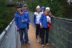 Team 4 van de Ski van de V.S. Stock Foto's