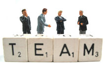 Team. A business team hard at work royalty free stock photo