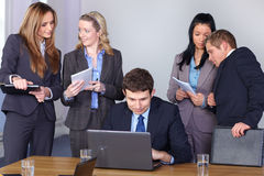 Team of 5 young businesspeople Stock Images