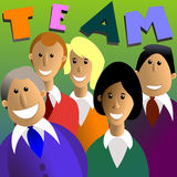 Team. Vector illustration of team in color stock illustration