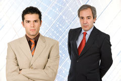 Team. Two business men standing at the office Royalty Free Stock Images