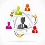 Team. Abstract concept about business network team vector illustration Royalty Free Stock Image