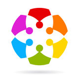 Team abstract icon Royalty Free Stock Photography