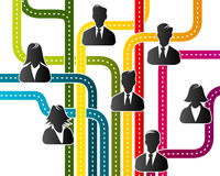 Team. Abstract illustration with business team organization Royalty Free Stock Photo