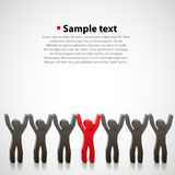Team of abstract people Royalty Free Stock Photos