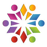 Team abstract social logo Royalty Free Stock Images