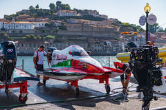 Team Abu Dhabi boat preparations Royalty Free Stock Photo