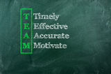 Team acronym. Acronym of Team - Timely , Effective , Accurate , Motivated royalty free stock photos