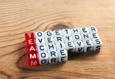 Team acronym on dices Royalty Free Stock Images