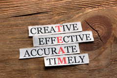 Team  acronym effective Stock Photos