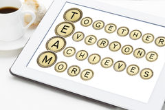 Team acronym in typewriter keys Royalty Free Stock Image
