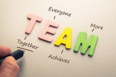 Team Acronym Stock Image