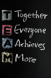 TEAM acronym written in colorful Royalty Free Stock Photos