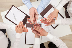 Team agreement a new project Royalty Free Stock Image
