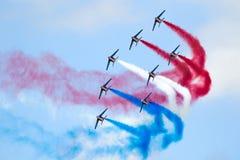Team Airshow aerobatic Patrouille De Frankreich Lizenzfreie Stockbilder