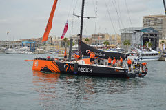 Team Alvimedica Begin The First-Bein des Volvo-Ozean-Rennens Stockfoto