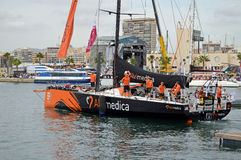 The Team alvimedica Crew Set Sail On The first Leg Of The Volvo Ocean Race Royalty Free Stock Photo
