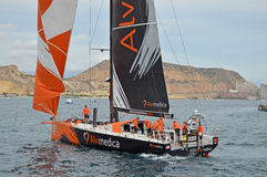 Sailing Boat Yacht Racing-Team Alvimedica Volvo Ocean Race Stock Photo