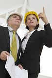 Team of architect and engineer on construction Stock Image