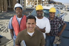 Team Of Architect At Site stock photography