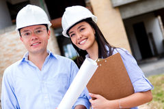 Team of architects Royalty Free Stock Photos