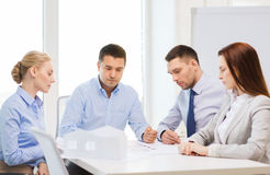 Team of architects and designers in office Stock Photography
