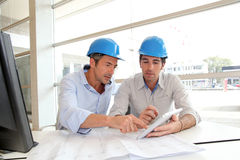 Team of architects in office Royalty Free Stock Photography