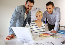 Group of people working in office Stock Photo
