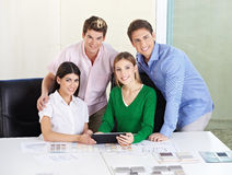 Team of architects with tablet Stock Image