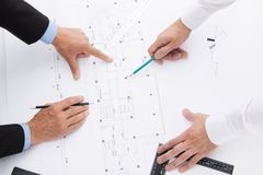 Team of architects. Stock Photo