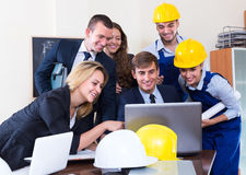 Team of architects working at office Stock Images