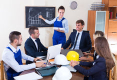 Team of architects working at office Royalty Free Stock Images