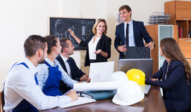 Team of architects working at office Stock Image