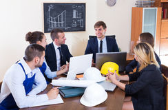 Team of architects working at office Stock Photos