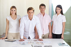 Team in architecture office Royalty Free Stock Image