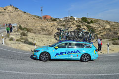 Team Astana support Vehicle Stock Image