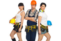 Team of attractive workers Royalty Free Stock Photo