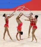 Team Azerbaijan Rhythmic Gymnastics royalty free stock images