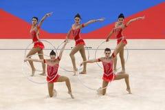 Team Azerbaijan Rhythmic Gymnastics stock photo