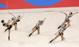 Team Azerbaijan Rhythmic Gymnastics stock images