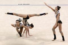 Team Azerbaijan Rhythmic Gymnastics royalty free stock photography