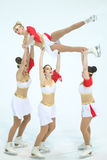 Team Balance-stunt Stock Afbeelding