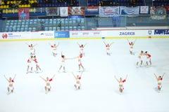 Team Balance a Zagabria Fotografie Stock Libere da Diritti