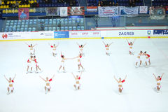 Team Balance in the Zagreb Royalty Free Stock Photos
