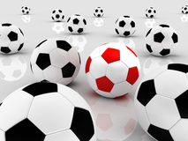 Team of balls Royalty Free Stock Photography