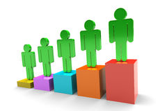 Team On Bar Chart Royalty Free Stock Photography